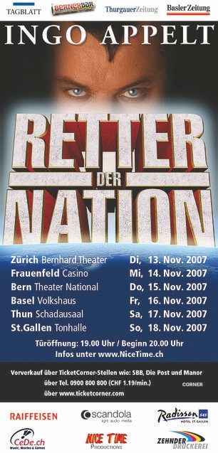 Flyer Retter der Nation